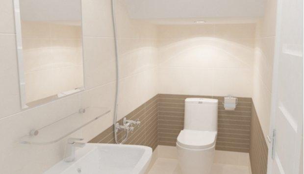 Giải pháp nào cho một phòng vệ sinh nhỏ dưới gầm cầu thang?