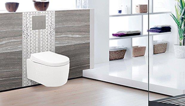 Bồn cầu âm tường Viglacera V55KA cho không gian phòng tắm thêm rộng