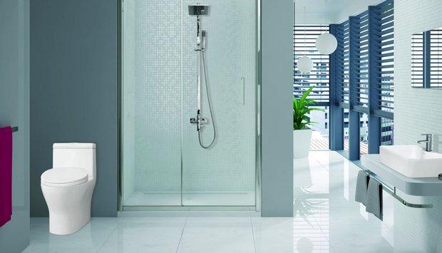 Tiết kiệm diện tích phòng tắm khi sử dụng thiết bị vệ sinh Viglacera.