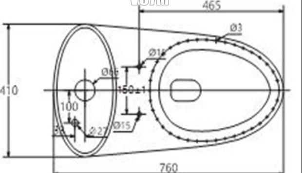 Thông số lắp đặt Bồn Cầu 1 Khối Viglacera V37M