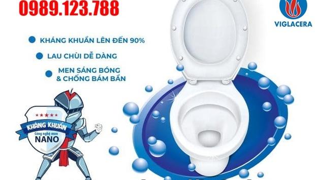 Bồn Cầu Viglacera Công Nghệ Men Nano Chính Hãng, Giá Rẻ Quận Hoàng Mai