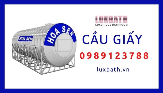 Đại Lý Bồn Nước Inox Hoa Sen Giá Rẻ Nhất Quận Cầu Giấy, Hà Nội