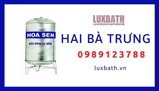 Đại Lý Bồn Nước Inox Hoa Sen Giá Rẻ Nhất Quận Hai Bà Trưng, Hà Nội