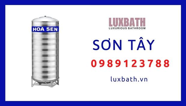 Đại Lý Bồn Nước Inox Hoa Sen Giá Rẻ Nhất Thị Xã Sơn Tây, Hà Nội