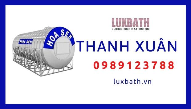 Đại Lý Bồn Nước Inox Hoa Sen Giá Rẻ Nhất Quận Thanh Xuân, Hà Nội