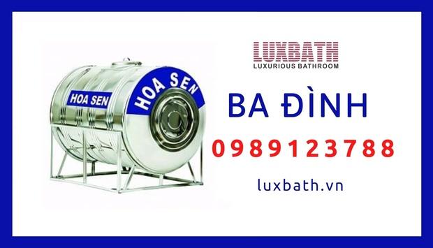 Đại Lý Bồn Nước Inox Hoa Sen Giá Rẻ Nhất Quận Ba Đình, Hà Nội