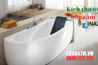 kích thước bồn tắm nằm inax chuẩn, thông dụng, được sử dụng nhiều nhất hiện nay