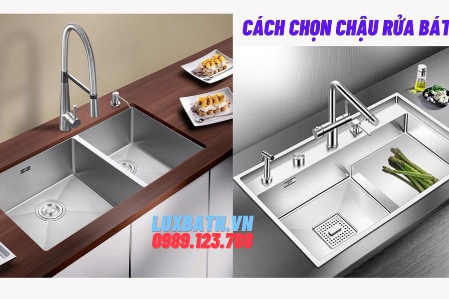 Cách chọn chậu rửa bát chuẩn cho gia đình bạn