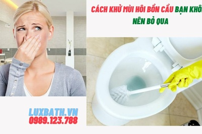 Cách khử mùi hôi bồn cầu bạn không nên bỏ qua