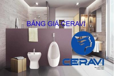 Bảng giá thiết bị vệ sinh Ceravi mới nhất 19/6/2021