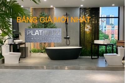 Bảng giá thiết bị vệ sinh Platinum mới nhất 19/6/2021