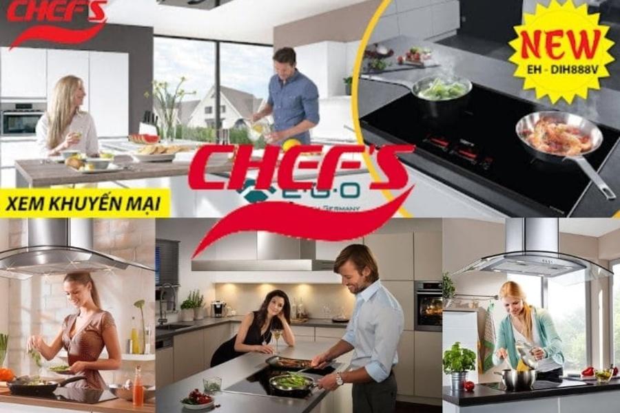 Bảng giá thiết bị nhà bếp Chefs mới nhất 20/92021