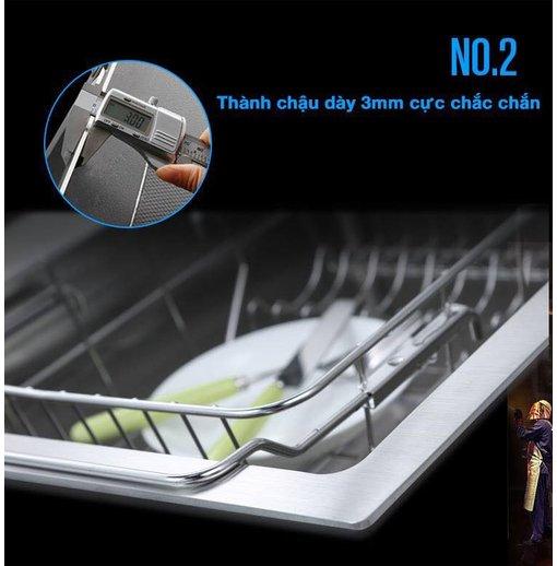 Chậu rửa bát inox đúc 304 Nanosi N8545C