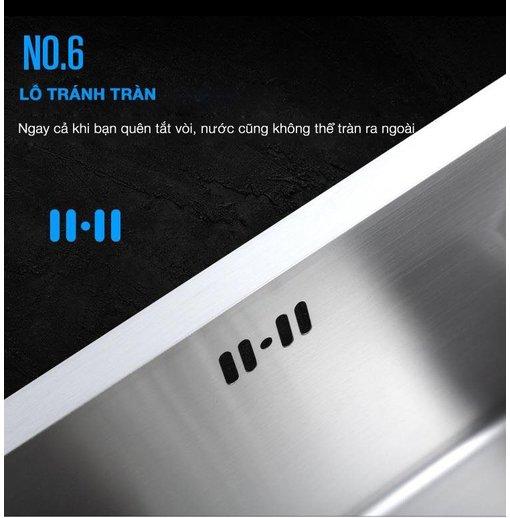 Chậu rửa bát inox đúc 304 Nanosi N8545L