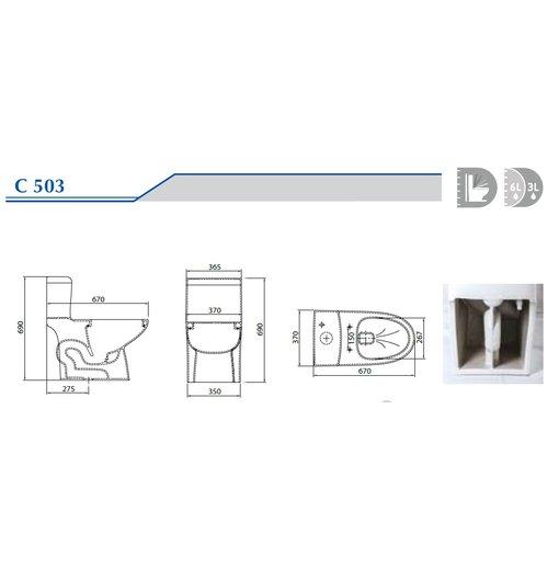 Bồn cầu 1 khối Ceravi C503