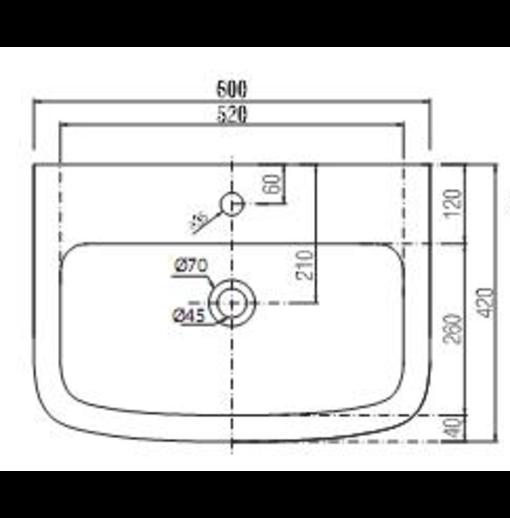 Chậu Rửa Mặt Chân Lửng Viglacera V50 (VI50)