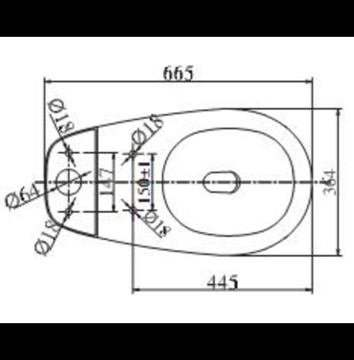 Bồn cầu 2 khối Viglacera VT18M nắp thường