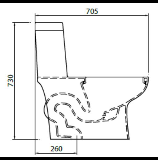 Bồn cầu 1 khối Ceravi C502