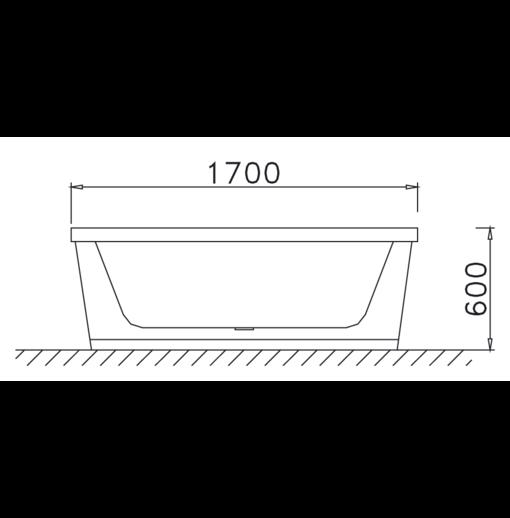Bồn tắm Caesar AT6170