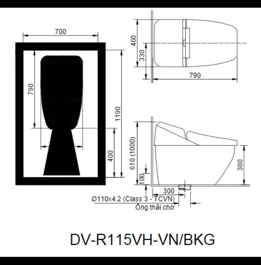 Bồn Cầu Thông Minh Inax Regio DV-R115VH