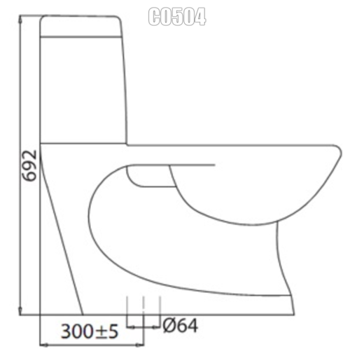 Bồn cầu 1 khối Viglacera C0504