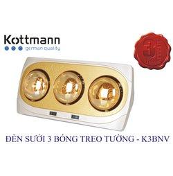 Đèn Sưởi Kottmann K3BNV 3 Bóng Treo Tường
