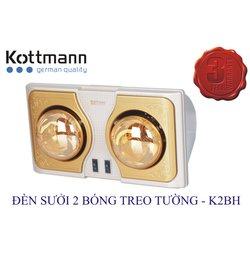 Đèn Sưởi Kottmann K2BH 2 Bóng Treo Tường