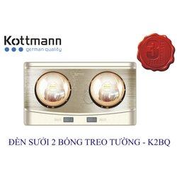 Đèn Sưởi Kottmann K2BQ 2 Bóng Treo Tường