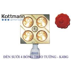 Đèn Sưởi Kottmann K4BG 4 Bóng Treo Tường