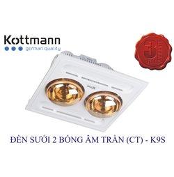 Đèn Sưởi Kottmann K9S 2 Bóng Âm Trần
