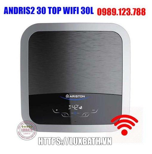 Bình Nóng Lạnh Ariston Andris2 Top Wifi 30 Lít Vuông