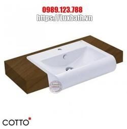 Chậu Rửa Lavabo COTTO C02237 Riviera Bán Âm Bàn
