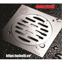 Phễu thoát sàn SUS304 Royal RA-016 (Ø90) kt 12x12cm