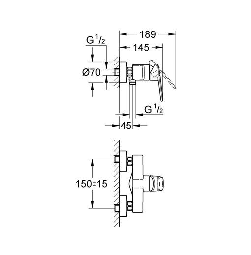 Bộ điều chỉnh nhiệt độ sen tắm Grohe 33577002