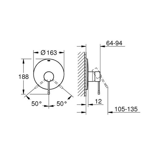 Bộ điều chỉnh nhiệt độ sen tắm Grohe 19286001