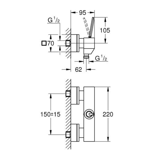 Bộ điều chỉnh nhiệt độ sen tắm Grohe 23665000