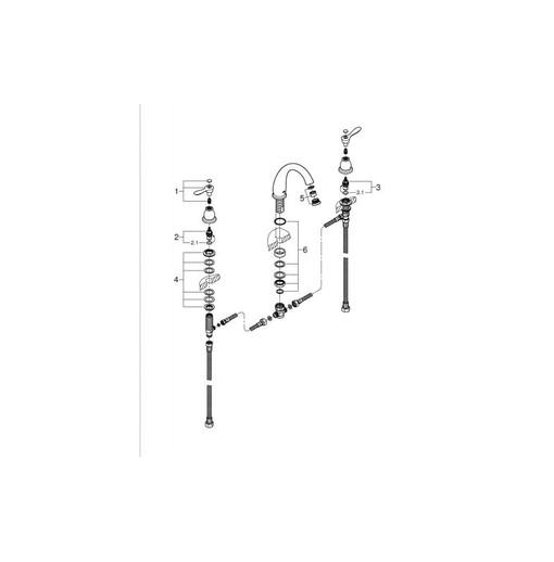 Vòi Chậu Lavabo 3 lỗ Nóng Lạnh Grohe 25152000