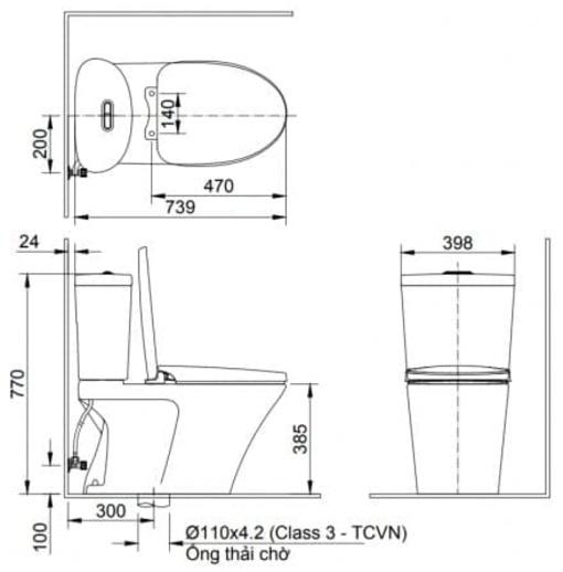 Bồn Cầu Nắp Điện Tử INAX AC-700A/CW-H18VN