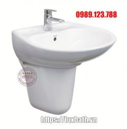 Chậu rửa mặt treo tường chân lửng cao cấp TOTO LHT300CR