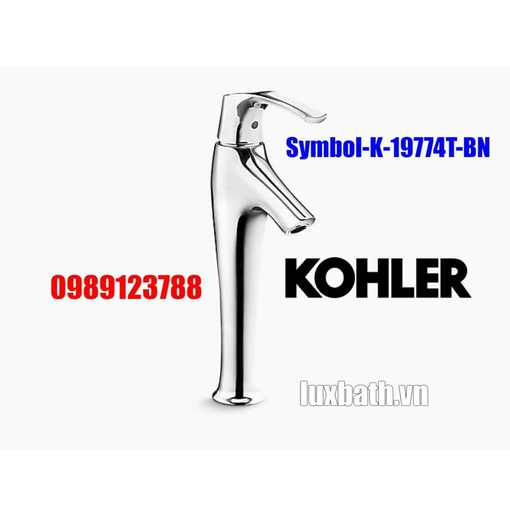 Vòi chậu rửa mặt cao Kohler Symbol K-19774T-BN mạ nikken mờ