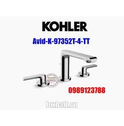 Vòi chậu rửa mặt âm bàn đá Kohler Avid K-97352T-4-TT Titanium