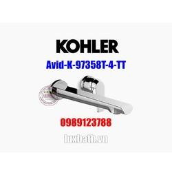 Vòi chậu rửa mặt nóng lạnh Kohler Avid K-97358T-4-TT Titanium