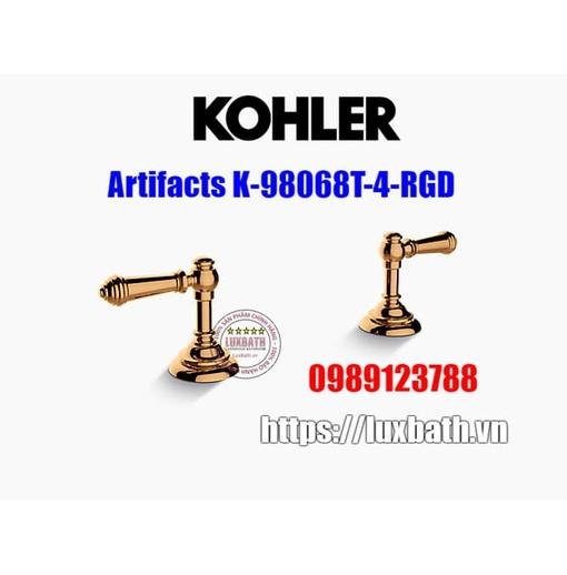 Tay chỉnh vòi bồn tắm Kohler Artifacts K-98068T-4-RGD vàng hồng