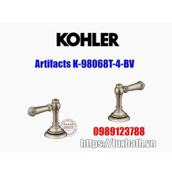 Tay chỉnh vòi bồn tắm Kohler Artifacts K-98068T-4-BV đồng mờ