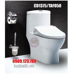 Bồn cầu 1 khối nắp rửa cơ Caesar CD1375/TAF050