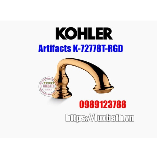Thân vòi bồn tắm Kohler Artifacts K-72778T-RGD vàng hồng
