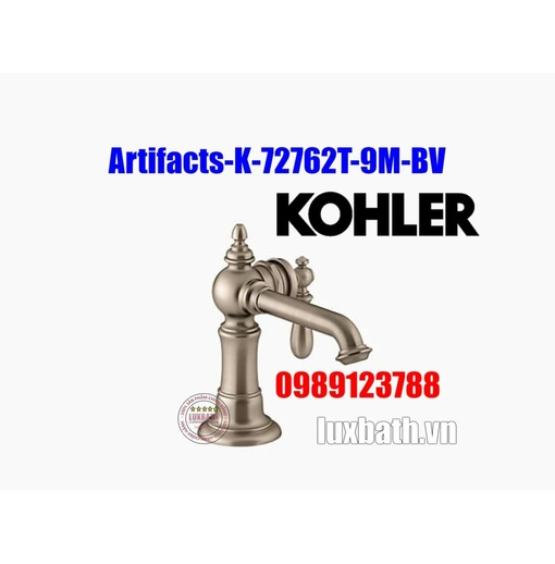 Vòi chậu rửa tay Kohler Artifacts K-72762T-9M-BV đồng mờ