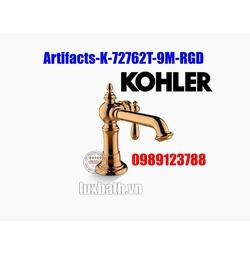 Vòi chậu rửa tay Kohler Artifacts K-72762T-9M-RGD vàng hồng
