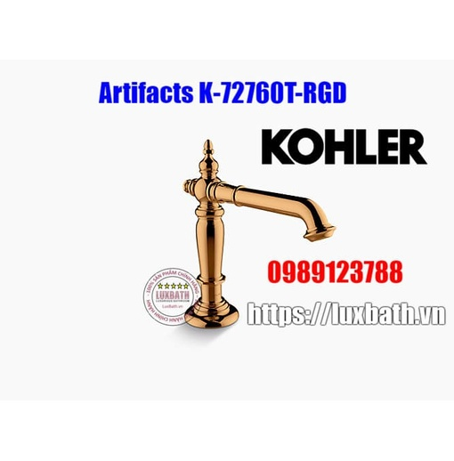 Thân vòi chậu rửa Kohler Artifacts 72760T-RGD màu vàng hồng