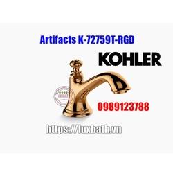 Thân vòi chậu rửa Kohler Artifacts 72759T-RGD màu vàng hồng